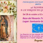 46 Rosarios a nuestra Virgen de Guadalupe...