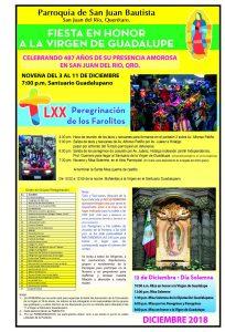 Fiesta en honor a la Virgen de Guadalupe